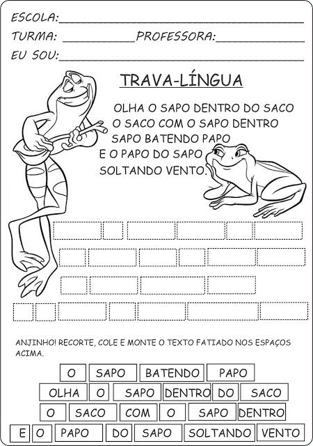 imagem 13 4 Atividades Trava Língua Infantil para baixar e Imprimir