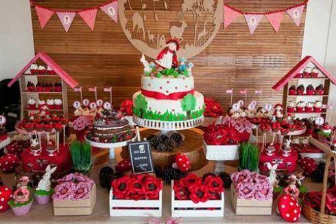 imagem 15 6 490x326 Decoração Festa Chapeuzinho Vermelho de Aniversário infantil