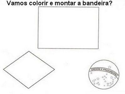 imagem 18 Atividades da Bandeira do Brasil para Imprimir, confira