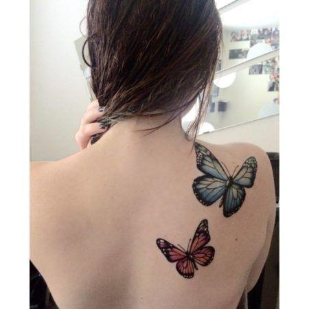 Tatuagem de Borboleta Feminina, Desenhos, partes do Corpo