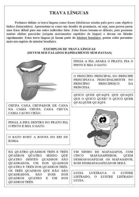 imagem 2 11 Atividades Trava Língua Infantil para baixar e Imprimir