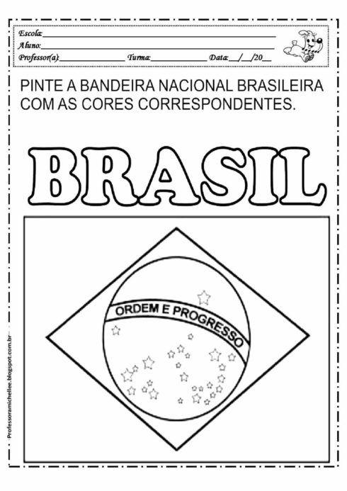 imagem 20 490x693 Atividades da Bandeira do Brasil para Imprimir, confira