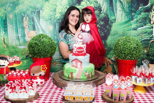 Decoração Festa Chapeuzinho Vermelho de Aniversário infantil