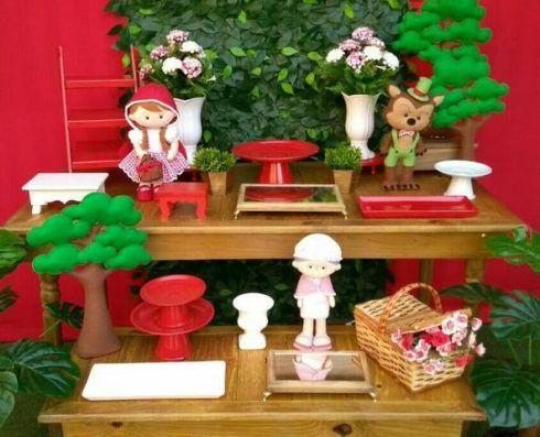 imagem 23 1 490x397 Decoração Festa Chapeuzinho Vermelho de Aniversário infantil