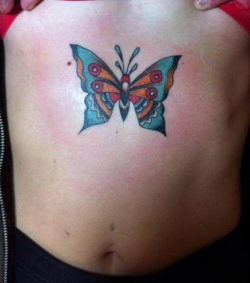 imagem 25 4 490x555 Tatuagem de Borboleta Feminina, Desenhos, partes do Corpo