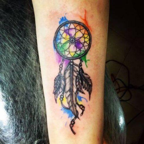 imagem 25 7 490x490 Tatuagem Filtro dos Sonhos Feminina em diversas partes do corpo