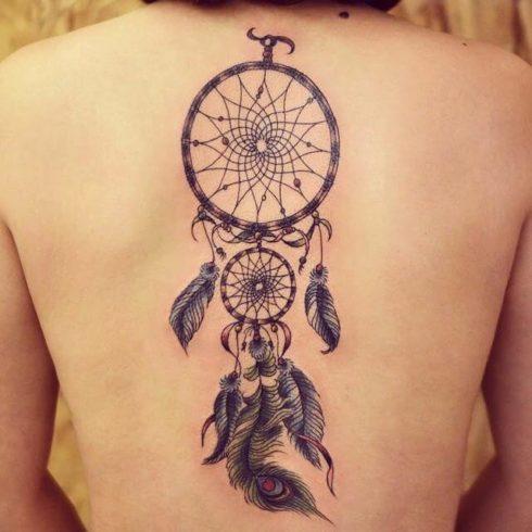 imagem 30 7 490x490 Tatuagem Filtro dos Sonhos Feminina em diversas partes do corpo