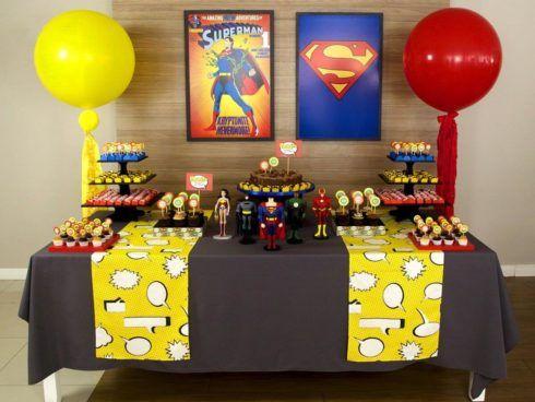 imagem 5 21 490x368 Festa Infantil de Aniversário Liga da Justiça como Decorar com Esse Tema