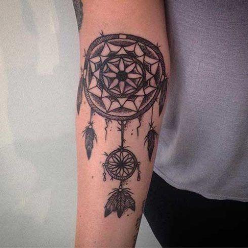 imagem 5 35 490x490 Tatuagem Filtro dos Sonhos Feminina em diversas partes do corpo
