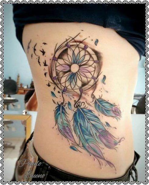 imagem 5 36 490x606 Tatuagem Filtro dos Sonhos Feminina em diversas partes do corpo