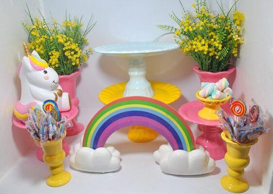 Decoração festa Unicórnio para Aniversário Infantil, ideias