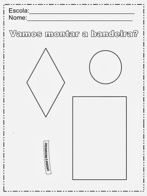 imagem 6 3 Atividades da Bandeira do Brasil para Imprimir, confira