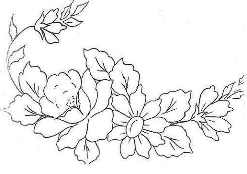imagem 6 34 490x346 Moldes de Desenhos para Pintura em Tecido, veja