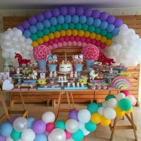 imagem 6 47 490x490 Decoração festa Unicórnio para Aniversário Infantil, ideias