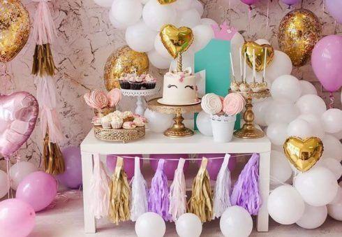 imagem 7 15 490x339 Decoração festa Unicórnio para Aniversário Infantil, ideias