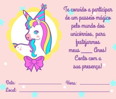 imagem 7 490x420 Decoração festa Unicórnio para Aniversário Infantil, ideias