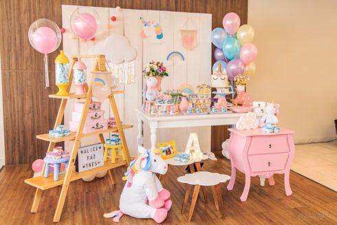 imagem 8 10 490x327 Decoração festa Unicórnio para Aniversário Infantil, ideias