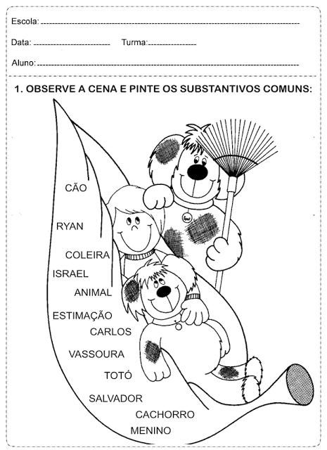 imagem 8 3 Atividades Substantivo Próprio e Substantivo Comum