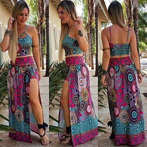 saia com cropped 2 490x490 Roupas Femininas para Balada, Looks, Estilos perfeitos
