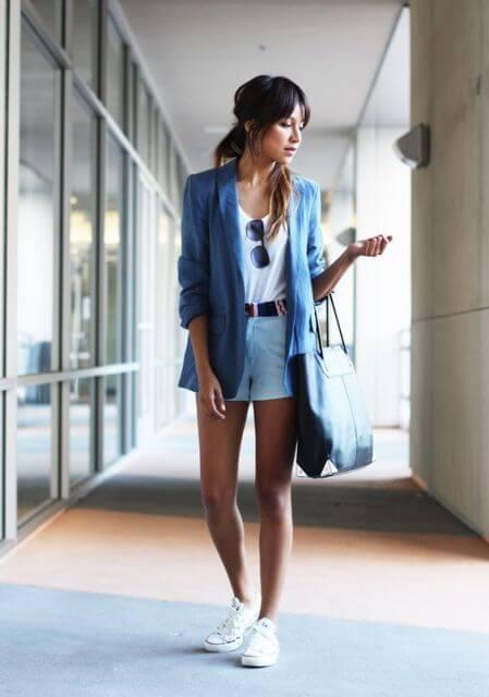 short com blazer 1 Roupas Femininas para Balada, Looks, Estilos perfeitos