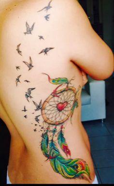 tattoo na costela Tatuagem Filtro dos Sonhos Feminina em diversas partes do corpo