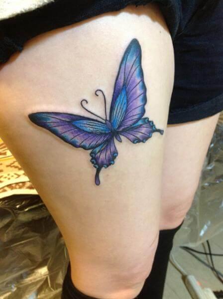 tatuagem borboleta na coxa Tatuagem de Borboleta Feminina, Desenhos, partes do Corpo