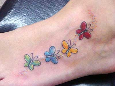 tatuagem borboleta no pe 1 Tatuagem de Borboleta Feminina, Desenhos, partes do Corpo