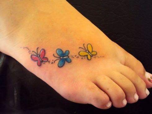 tatuagem borboleta no pe 3 490x368 Tatuagem de Borboleta Feminina, Desenhos, partes do Corpo