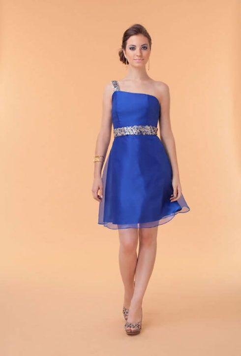 vestido curto azul royal madrinha de casamento 490x723 Vestidos para Madrinha de Casamento 2019 2020, Jeitos de usar