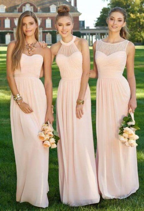 vestido para madrinha de casamento de dia 3 490x717 Vestidos para Madrinha de Casamento 2019 2020, Jeitos de usar