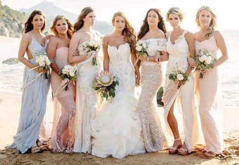 vestido para madrinha de casamento na praia 3 490x339 Vestidos para Madrinha de Casamento 2019 2020, Jeitos de usar