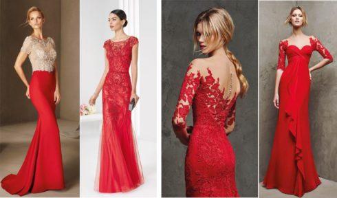 vestido para madrinha de casamento vermelho 1 490x288 Vestidos para Madrinha de Casamento 2019 2020, Jeitos de usar