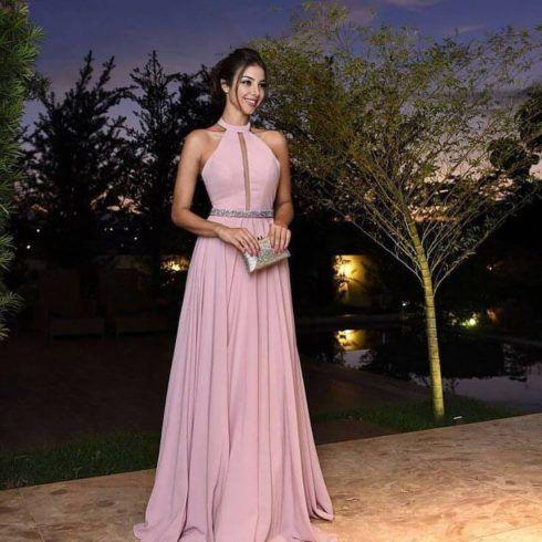 vestidos 2019 madrinha de casamento cor de rosa 490x490 Vestidos para Madrinha de Casamento 2019 2020, Jeitos de usar