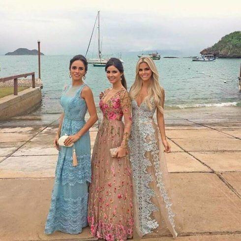 vestidos 2019 madrinha de casamento renda e tule 490x490 Vestidos para Madrinha de Casamento 2019 2020, Jeitos de usar