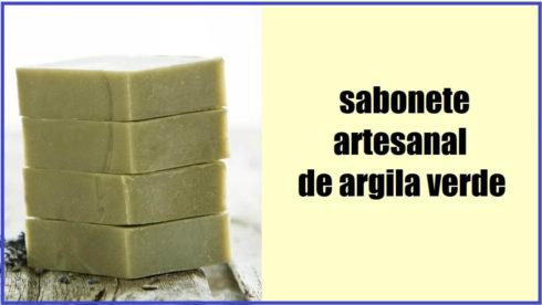 Sabonete de Argila Verde artesanal 490x276 Como fazer sabonete artesanal receita pra fazer em casa