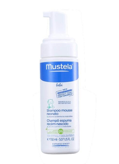 mustela shampoo recem nascido 490x671 4 formas de Como tirar as casquinhas da cabeça do bebê sem machucar