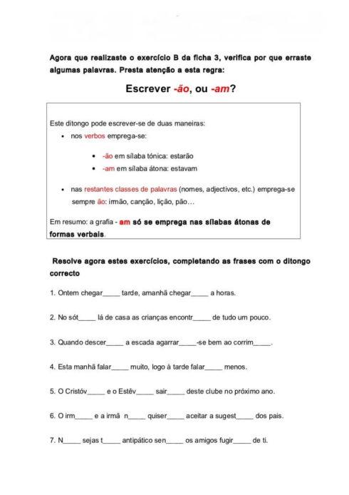 atividades am e %C3%A3o 3 490x694 Atividades am e ão gramática Português para Imprimir