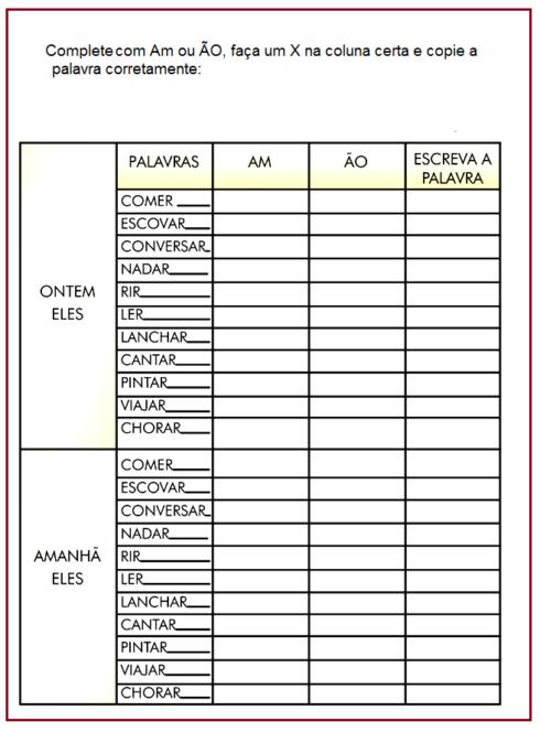 atividades am e %C3%A3o 4 490x664 Atividades am e ão gramática Português para Imprimir